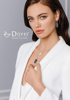 Woman wearing Doves jewelry