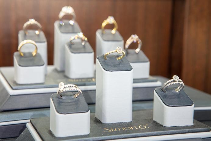 Diamond rings on display