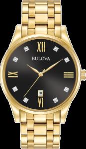 Bulova's men's quartz dress mens watch